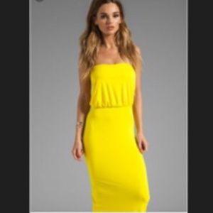 REVOLVE SUSANA MONACO SUN YELLOW BC MAXI DRESS XS